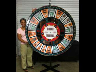 Giant Prize Wheel (5ft customizable) $395