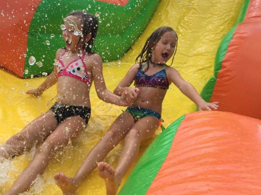 bounce houses water slides party rentals face painters winter
