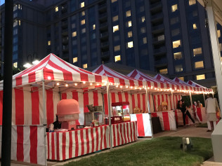 Carnival Booth w/market lighting $195 each w/1 game